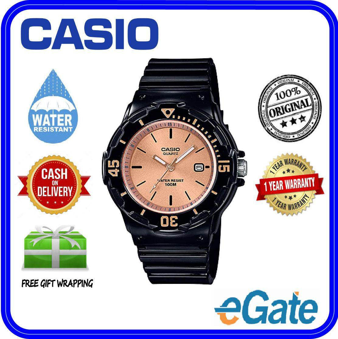 (2 YEARS WARRANTY) Casio LRW-200H-9E2V Analog Kids & Ladies Date Functioning Classic Black Resin Strap Original Casual Watch (LRW-200H) Malaysia