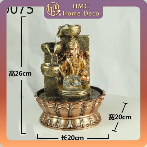 WATER FOUNTAIN GANESHA LX9075 WATER FEATURE FENG SHUI HOME DECORATION