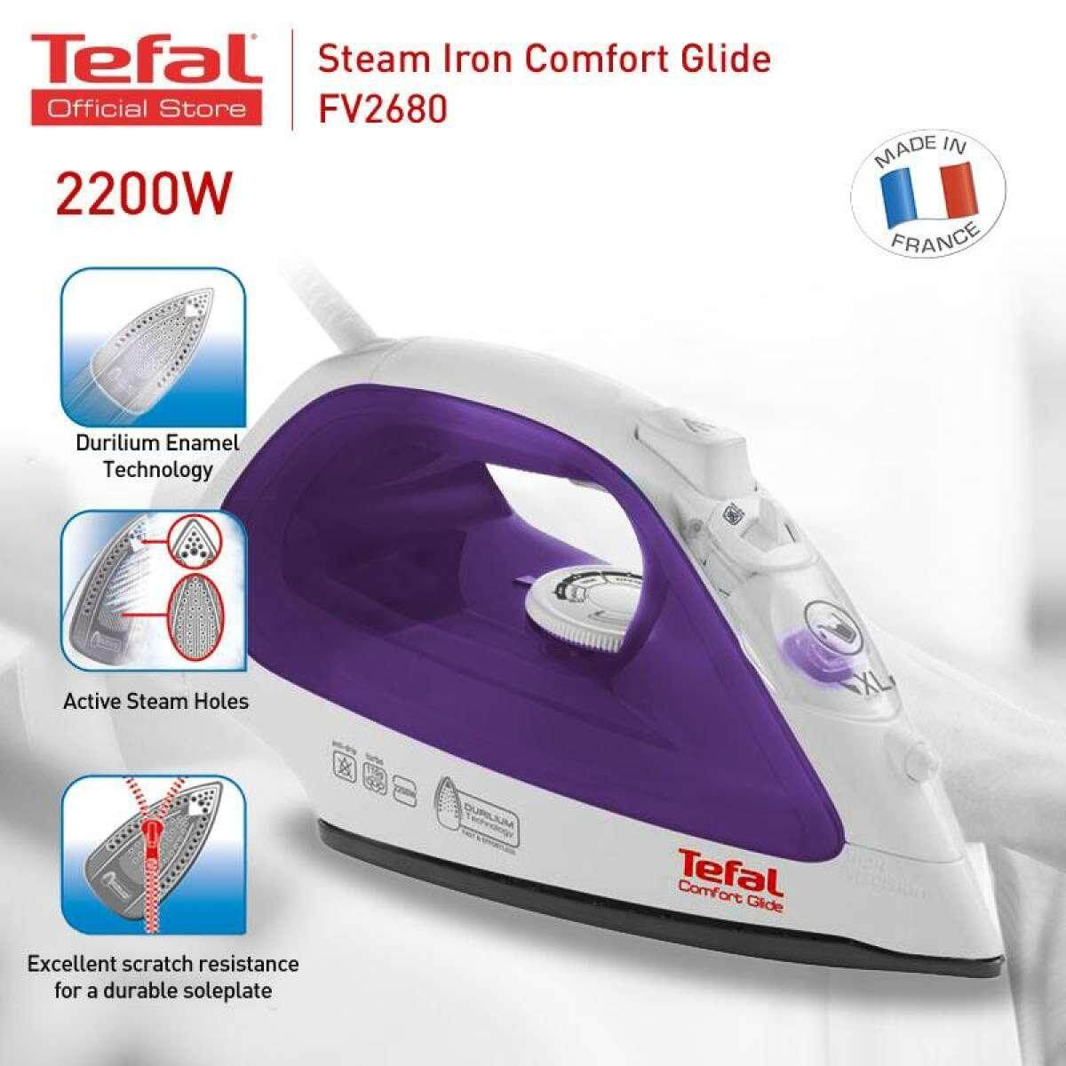 Tefal Steam Iron Comfort Glide Fv2680 Online Exclusive By Lazada Retail Tech-Mall.
