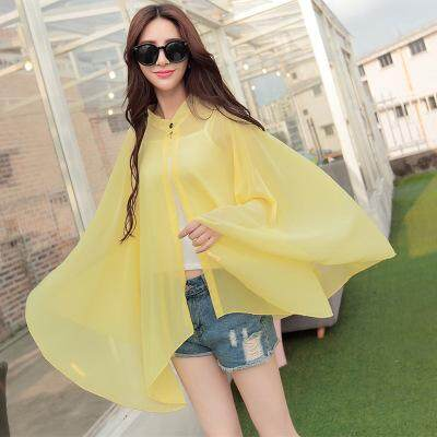 8 Colors New Summer Thin Section Riding Sun Protection Clothing Long Section Shawl Chiffon Jacket Female By Qianlan Fashion Store.