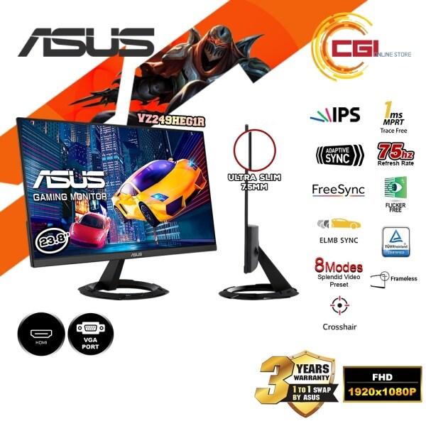 Asus 23.8 VZ249HEG1R FHD IPS 75Hz 1ms FreeSync Adaptive Sync UltraSlim Gaming Monitor Malaysia