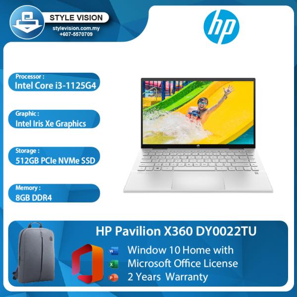 HP Pavilion X360 14 DY0022TU (3G6M9PA) (Intel Core i3-1125G4/8GB/512GB SSD/Window10/2 years Warranty/Free Office License) Malaysia