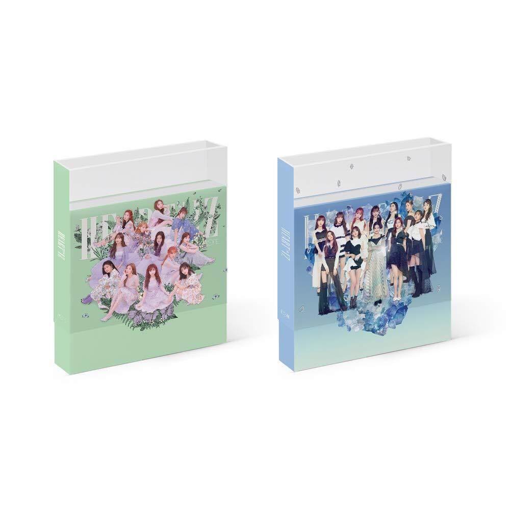 [Produce 48] IZONE IZ*ONE (Heart iz HEART*IZ) [Violeta+Sapphire ver. SET] (2nd Mini Album) Album + 2Folded poster + Store gift - kpop