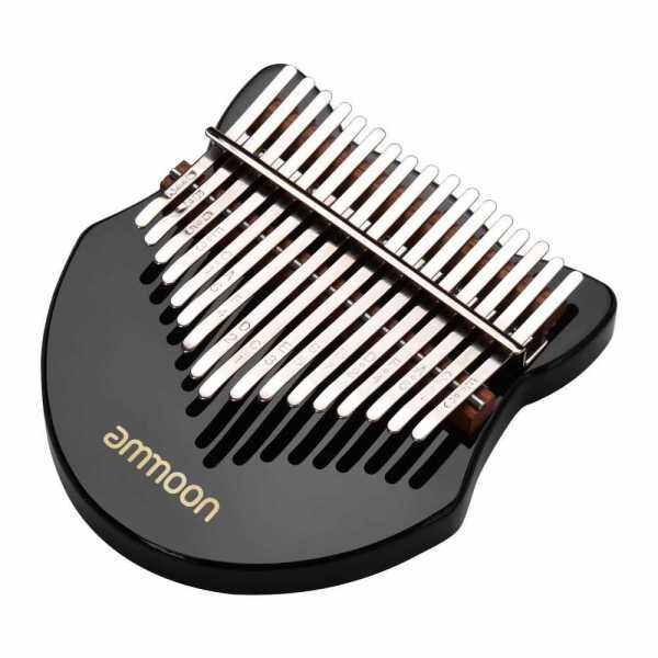 ammoon Cute Fox-shaped 17-Key Kalimba Thumb Piano Acrylic Material with Carry Bag Musical Note Stickers Tuning Hammer Cleaning Cloth Music Book, Black (Black) Malaysia