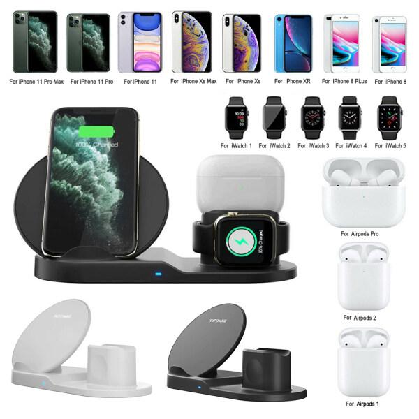 Giá Đế sạc không dây 3 trong 1 vkcool, đế sạc 10W iWatch cho Iphone 11 Pro Max, Samsung