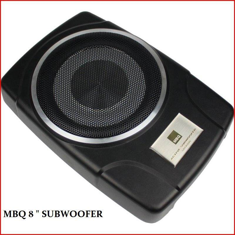 """MBQ AW-800E 8"""" Amplified Subwoofer Car Underseat Subwoofer"""