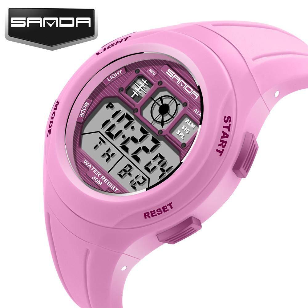 SANDA brand sports watch for kids swimming watch sports casual cartoon digital watch boy girl LED multifunction watch Malaysia