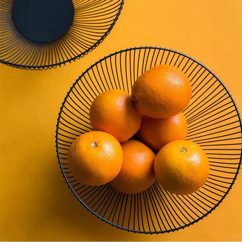Nordic Ins Fruit Basket Wrought Iron Modern Creative Kitchen Basket Drain Basket Sub-household Living Area Snacks Fruit Plate
