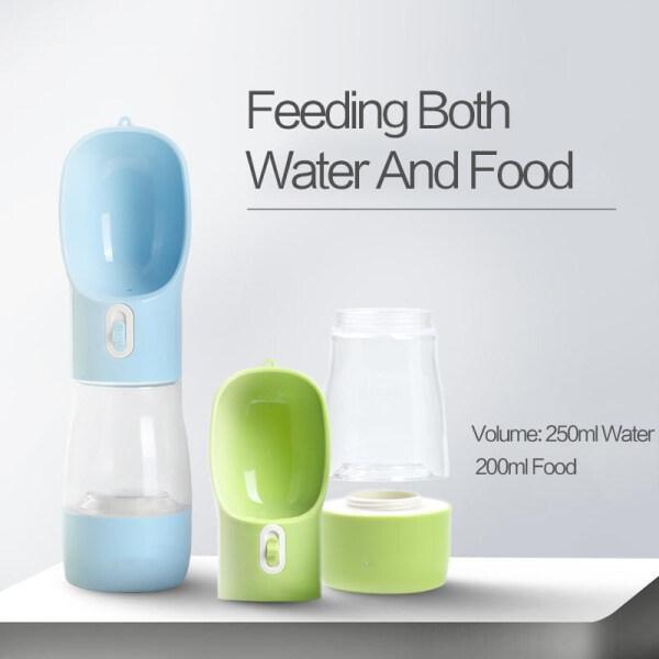 Chai Nước Cho Thú Cưng Cốc Đựng Nước Giải Khát Di Động Chống Rò Rỉ, Hộp Đồ Ăn Vặt Cho Thú Cưng Có Bát Cho Ăn, Để Đi Bộ Ngoài Trời, Đi Bộ Đường Dài, Du Lịch, Nhựa Cấp Thực Phẩm Không BPA