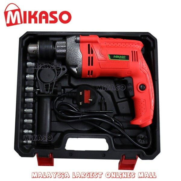 MIKASO Impact Drill Set 2 Mode 100% Full Copper Motor  FREE CARRYING CASE Version 2020