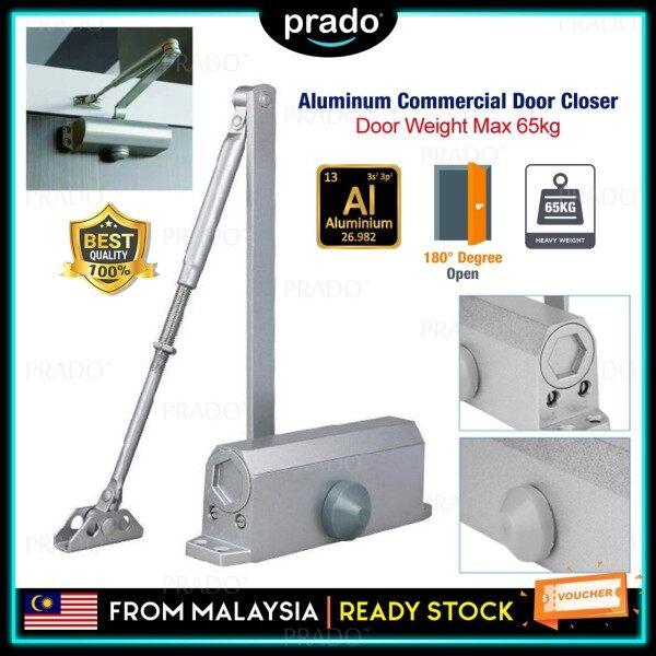 PRADO Malaysia Aluminum Fireproof Heavy Duty 2 Speed Max 45-65kg Magnetic 180 Degree Automatic Hydraulic Sliding Door Closer