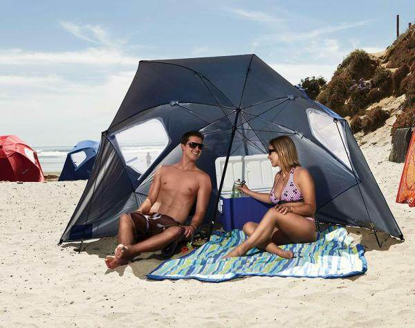 Good Service Super Brella Umbrella Superbrella Beach Blue 8 Feet Wide Sun Protection