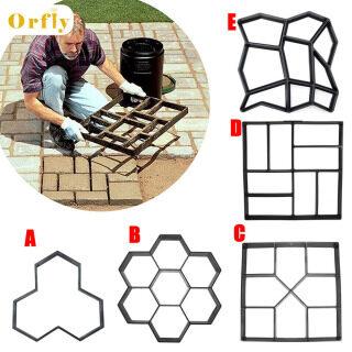 Orfly Dụng Cụ Làm Đường Đi Vườn Bằng Nhựa Tự Làm Khuôn Xi Măng Đá Bước Bê Tông Mô Hình Vỉa Hè, Gạch thumbnail