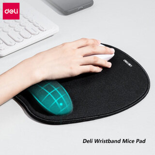 Deli Wristband Mice Pad Memory Foam Wrist Rest Mousepad Superfine Sealing Edge Anti-slip Double Layer Thicken Gaming Mouse Pad Portable Ergonomic Mouse Mat Typist Office Gaming PC Laptop Accessories thumbnail
