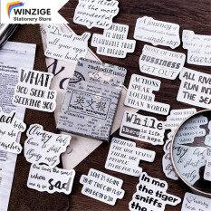 Winzige 45 chiếc stickers kiểu dáng lá thư cổ điển giấy trang trí báo chí tiếng anh nhật ký quà album – INTL