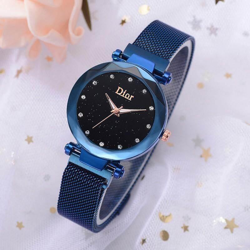 Simple Magnet Star Watches Casual Fashion Lady Wristwatch Life Waterproof Quartz Watch Jam Tangan Wanita Malaysia