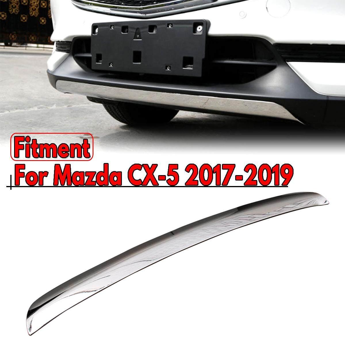 Dành cho Xe Mazda CX-5 CX5 2017-2019 inox Mạ Chrome Trước môi viền bao da - 4