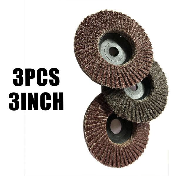 3pcs Set 3 Flap 10mm Flap Sanding Disc Angle Grinder Discs Metal Grind Wheels