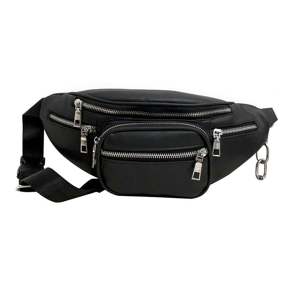 782c9249ea LTPlaza Waist Bag PU Leather Outdoor Chest Bag Multifunctional Solid Color  Crossbody Bag
