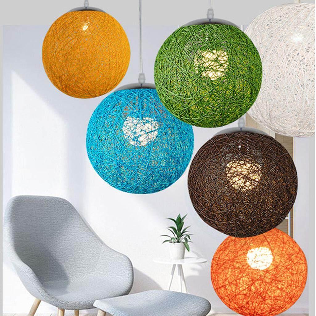 BolehDeals Rattan Wicker Lampshade Ceiling Pendant Lamp for Xmas Wedding Party Home Decor