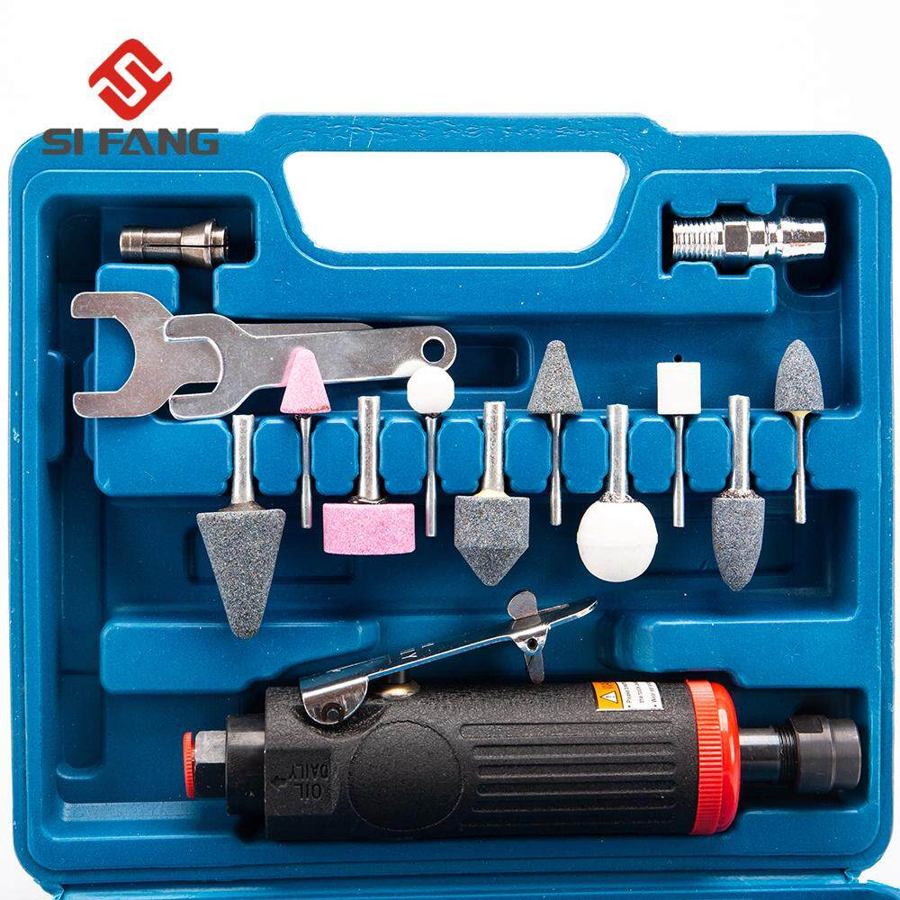 SIFANG 1/4  and 1/8  Air Straight Die Grinder Kit Set Air Compressor Tool Mini Polisher Pneumatic Grinding Tool Air Compressor Tool