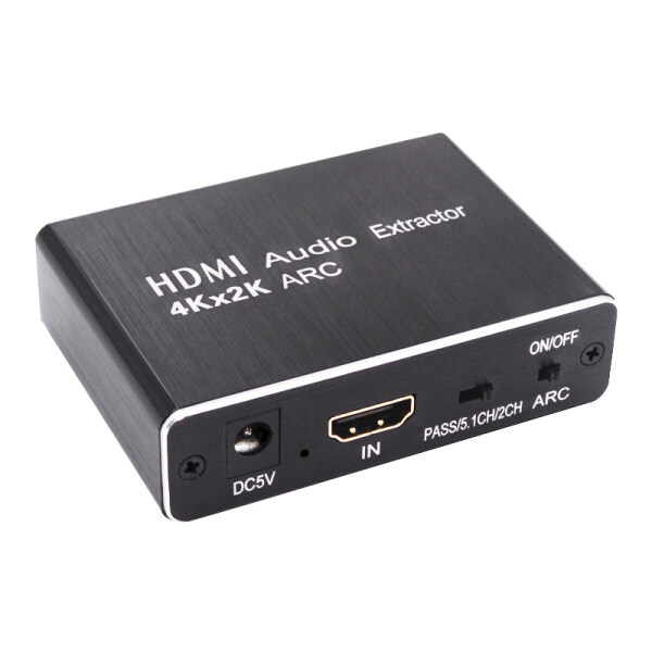 HDMI Audio Extractor 5.1 ARC HDMI to HDMI and Optical SPDIF 3.5mm Stereo Audio Extractor Splitter