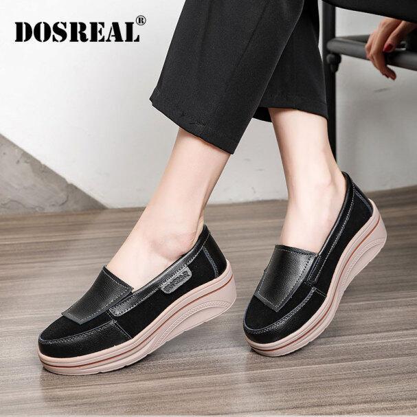 Giày Đế Xuồng DOSREAL Cho Nữ Giày Bánh Mì Giày Lười Đế Dày Phong Cách Hàn Quốc Thời Trang Thường Ngày giá rẻ
