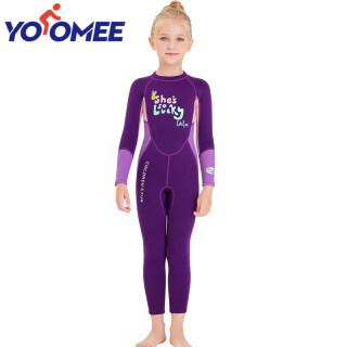 Yoomee 2.5Mm Đồ Bơi Cao Su Tổng Hợp Trẻ Nhỏ Giữ Ấm Bảo Vệ Khỏi Tia UV Đồ Bơi Dài Tay Áo Áo Quần Lặn thumbnail