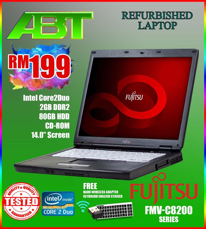 Fujitsu LIFEBOOK FMV-C8240 - Intel Core2Duo / 2GB DDR2 / 60GB-80GB HDD / Refurbished laptop) Malaysia