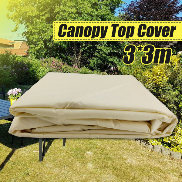 Waterproof 300D Tent Canopy Top Roof Replacement Cover 3mX3m Outdoor Garden Pavilion Gazebo Sunshade(No include the frame)