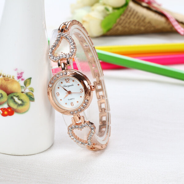 Love Crystal Bracelet Watch Ladies Watch Fashion Trend Girl Diamond Girl Student Simple Waterproof Korean Watch Malaysia