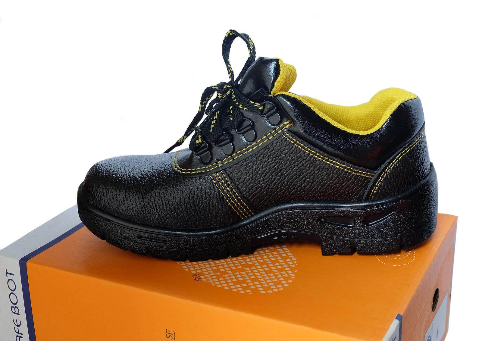 Safety Shoes Black Low Cut with Steel Cap and Steel Sole