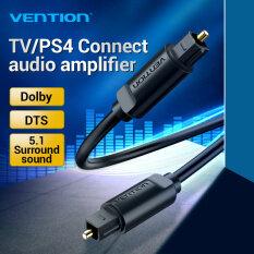 Vention cáp quang âm thanh 1M 2M 3M 5M Cho Blu-ray CD DVD Toslink Digital SPDIF Cable Optical Fiber Audio Cable Cho Xbox 360 PS4 Soundbar Optical Fiber Audio Cable