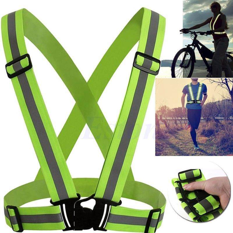 (Stock in Malaysia) Waistcoat Outdoor Running Cycling Vest Harness Reflective Belt Safety Jacket