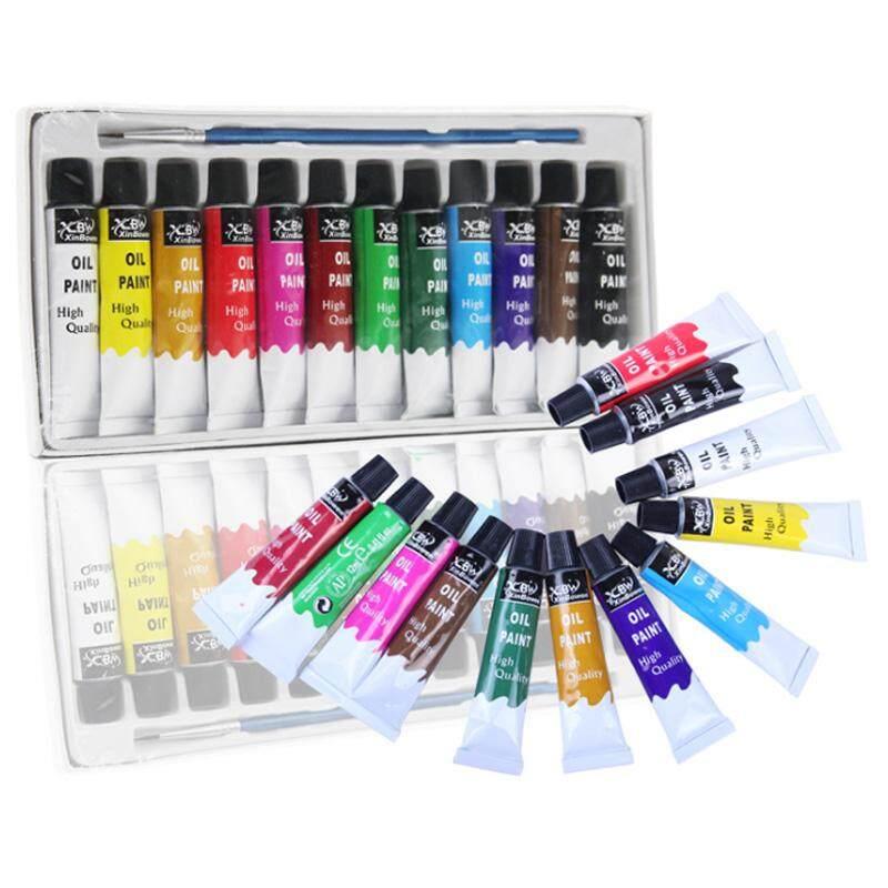 Mua Sơn dầu Bộ 12 Màu Hình Ống Acrylic Nghệ Thuật Tranh Màu Nước Sơn Dầu Bút Phù Hợp Với Vải Thảm Ban Bảng Điều Khiển giấy