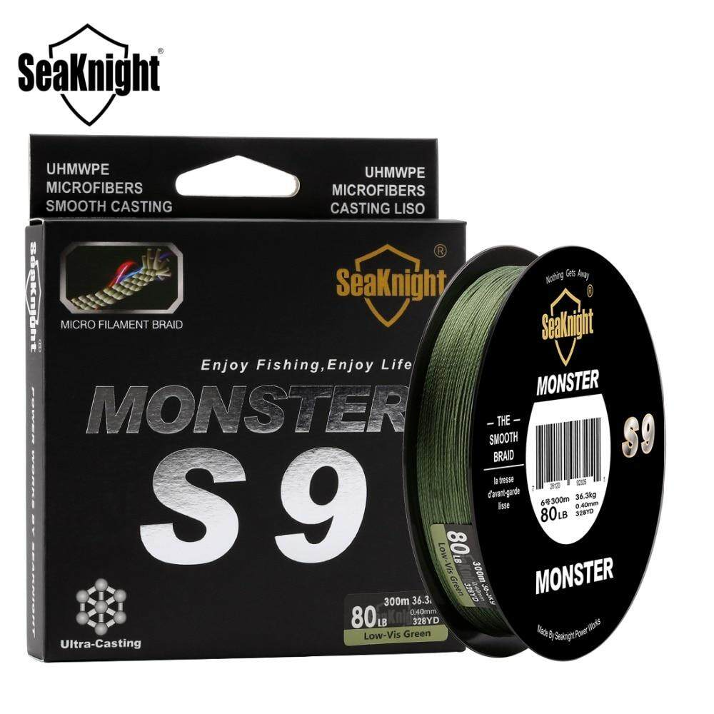 Seaknight Monster S9 300m Pe Fishing Line 9 Strand Reverse Spiral Tech Multifilament Strong Carp Fishing Line 20 30 40 80 100lb By Lady Beautiful.