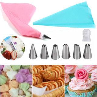 Dụng Cụ Trang Trí Bánh Kẹo Mềm Bộ Vòi Phun Túi Làm Bánh Kem Đóng Băng Bằng Silicone Houseeer thumbnail