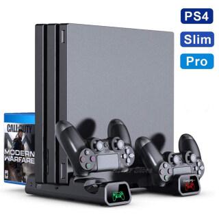 Giá Đứng Máy Chơi Game PS4 PS4 Pro PS4 Slim, 2 Đế Sạc Điều Khiển 2 Quạt Làm Mát, Hộp Đựng 10 Trò Chơi Dành Cho Sony Playstation 4 thumbnail