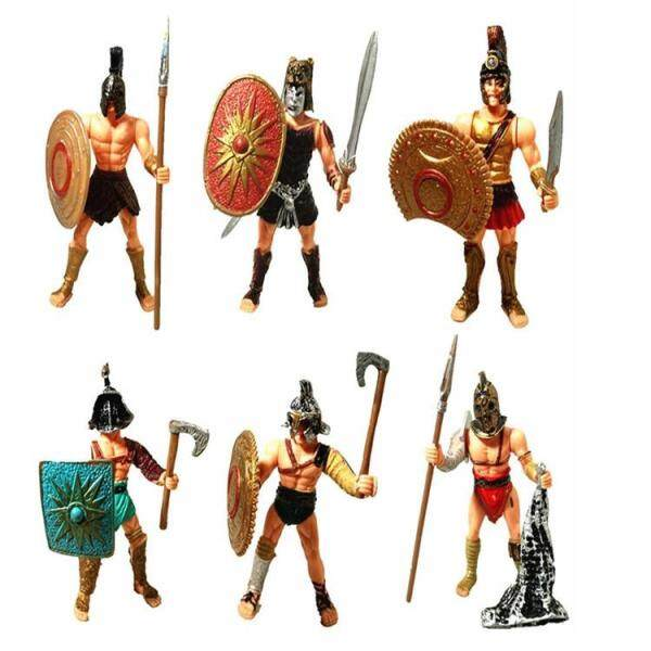 BABY 6PCS Roman  Samurai Soldier Model Toy for Room Table Decoration Childrens Gift Singapore