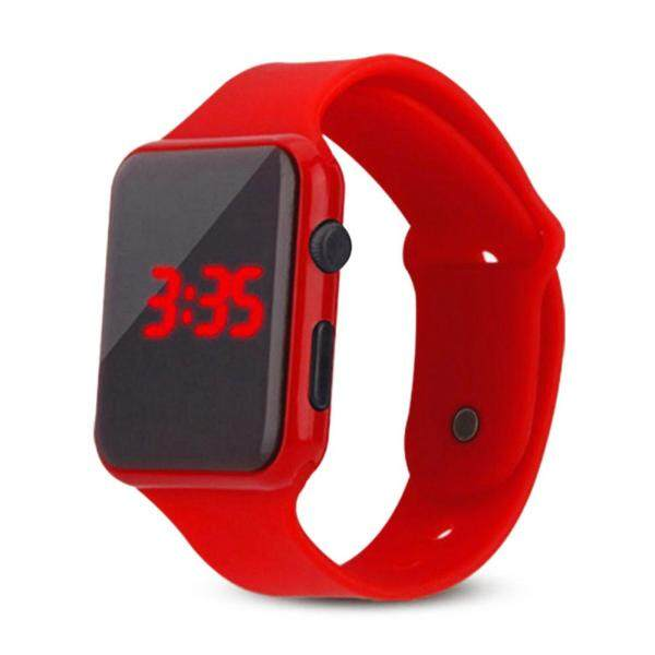 New square silicone LED watch student touch screen square led watch Malaysia