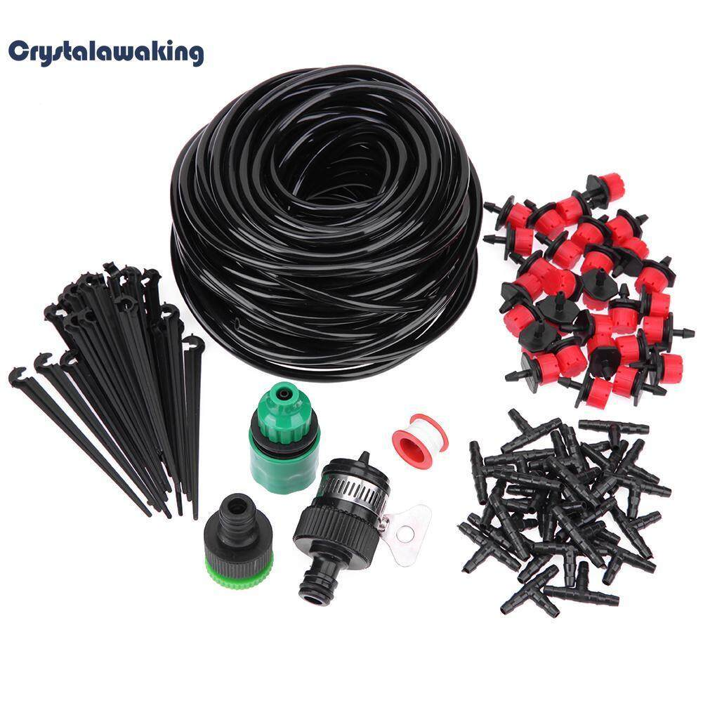 25m Diy Micro Drip Irrigation System Plant Self Watering Garden Hose Kits By Crystalawaking.
