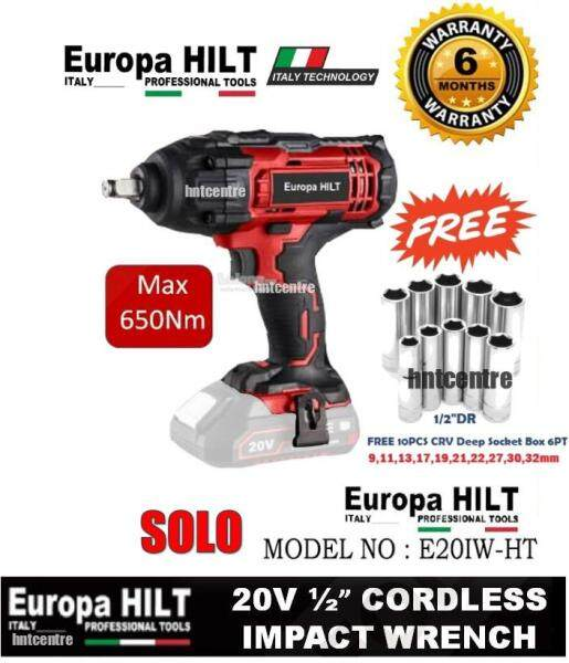 EUROPA HILT 20V CORDLESS IMPACT WRENCH WITH MAX TORQUE 650Nm E201W-HT