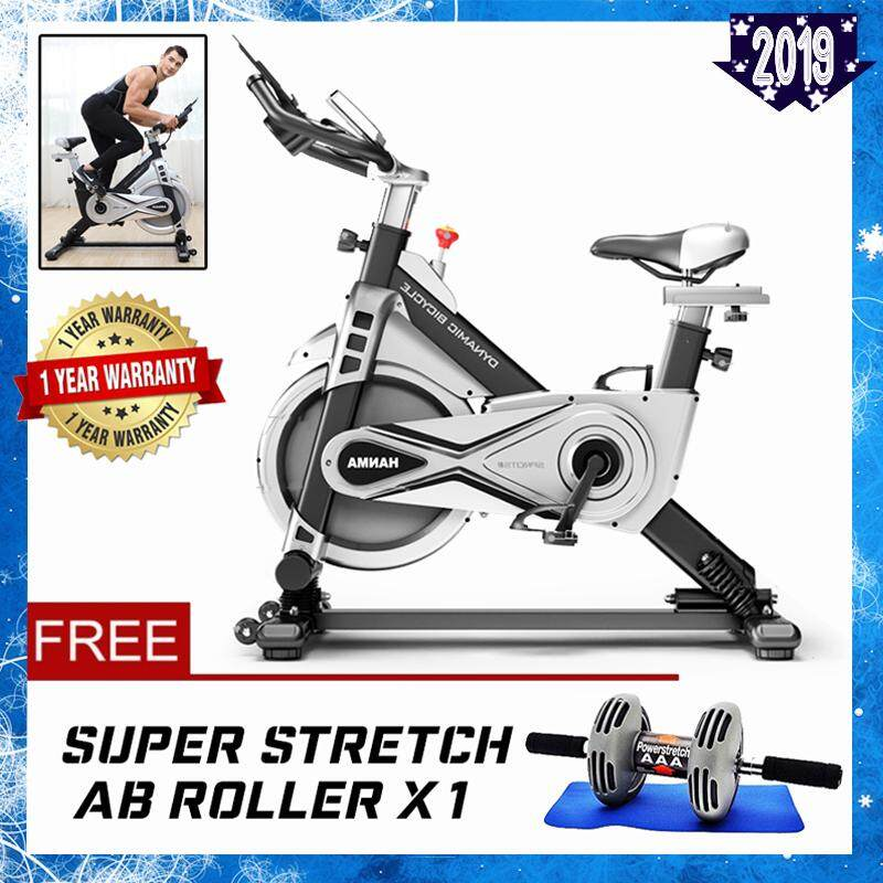 HANMA 812T Super Silent Dynamic Fly Wheel Bicycle Indoor Swing and Spring Exercise Bike Gym Workout