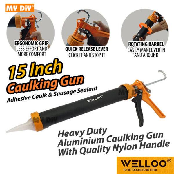 MYDIY Online2u - WELLOO Heavy Duty Aluminium Caulking Gun With Quality Nylon Handle