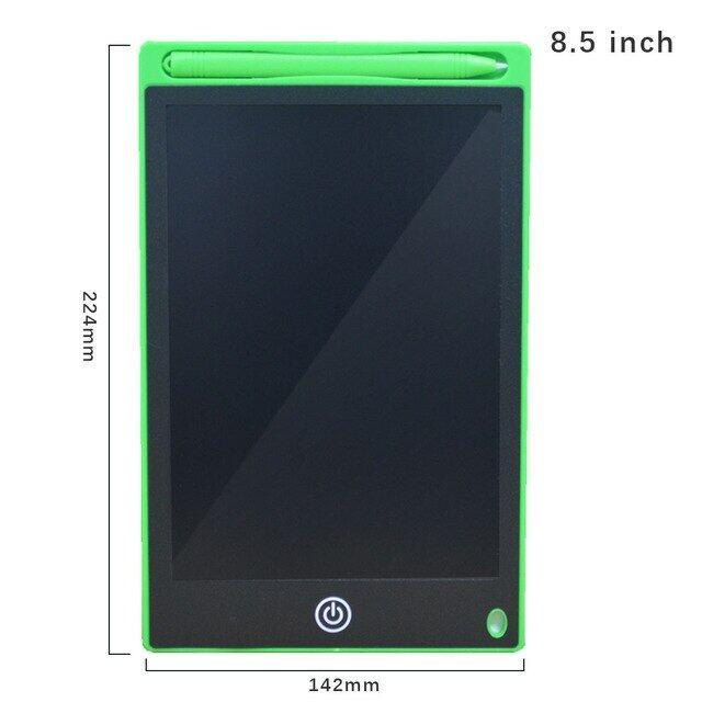 Bảng Viết LCD 8.5 Inch, Bảng Vẽ Kỹ Thuật Số Bảng Viết Với Bút Điện Tử Cầm Tay Máy Tính Bảng Bảng Mạch Siêu Mỏng Cho Trẻ Em Gif