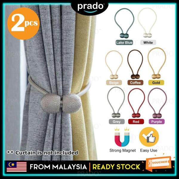 PRADO Malaysia 2pcs Premium Ball Design Magnetic Curtain Holder Buckle Tieback Clips Home Window Accessories Pengikat Langsir