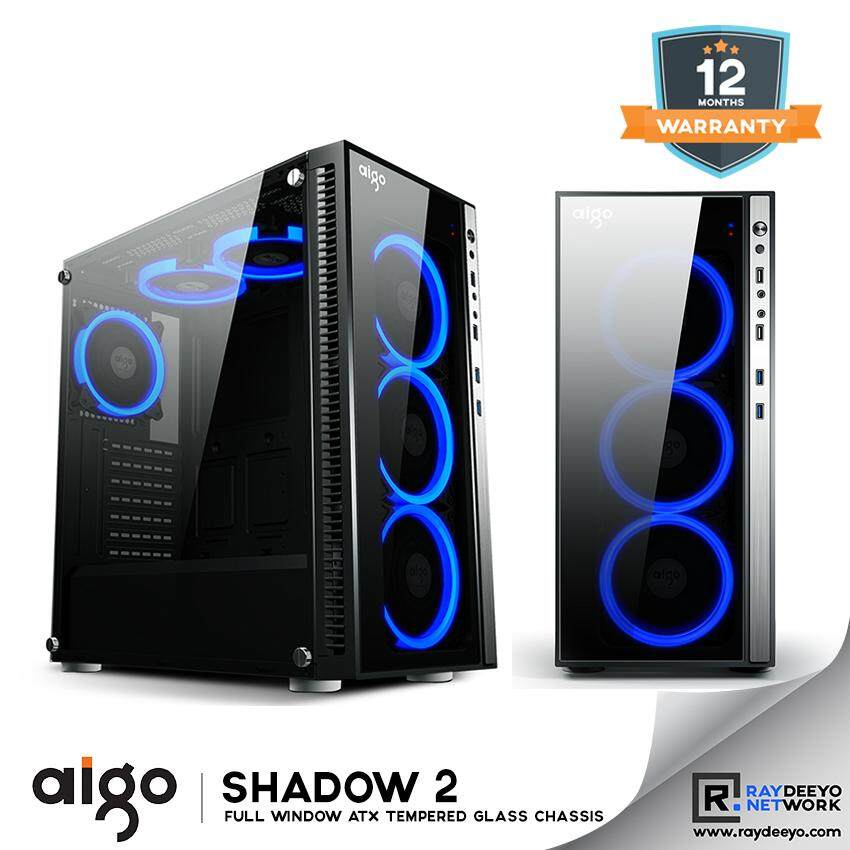 Aigo Shadow 2 Chassis [Front - Tempered Glass, Side - Tempered Glass, ATX, Matx, Mini-ITX] Malaysia