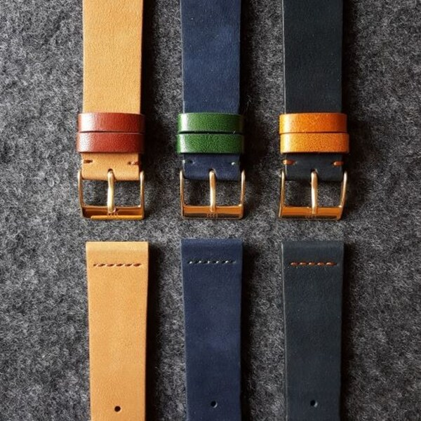 Vintage Velvet Leather Watch Strap (22mm) Malaysia