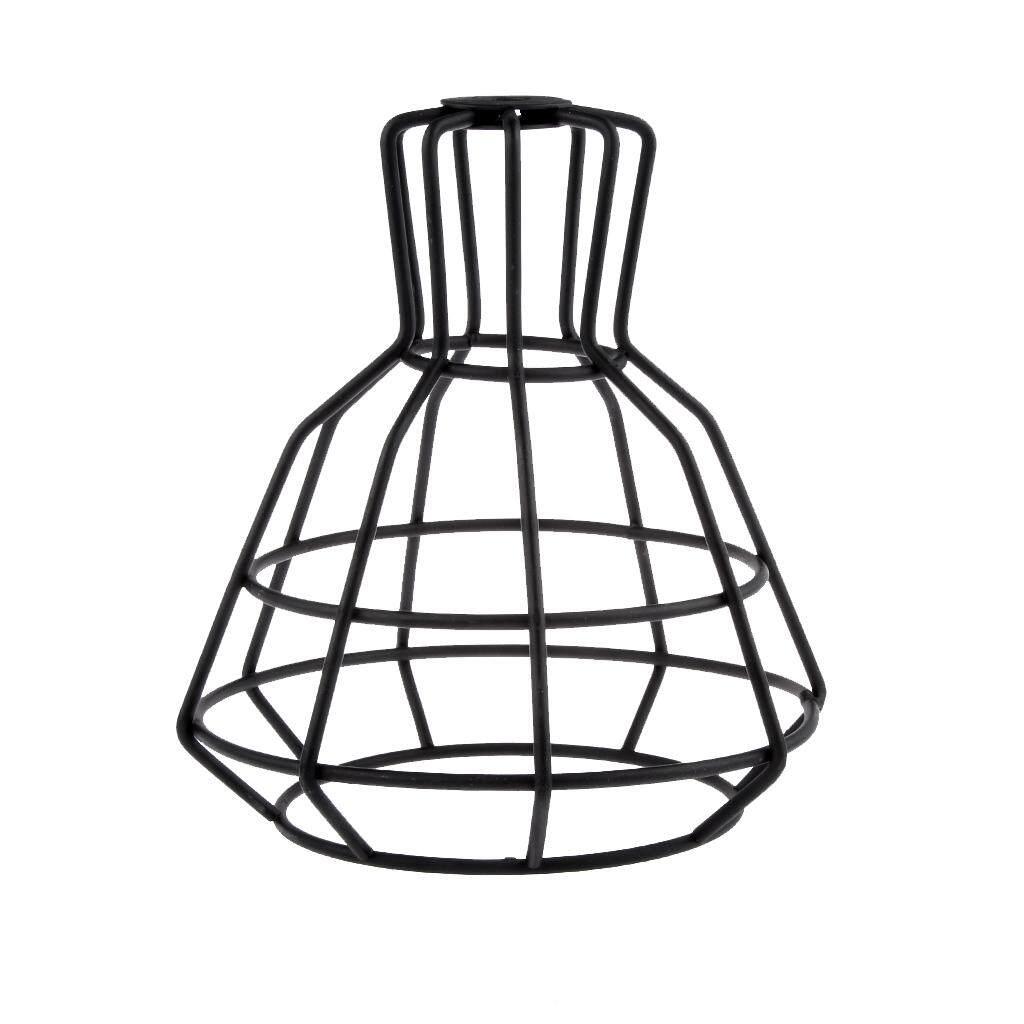 BolehDeals Iron Guard Industrial Pendant Light Bulb Cage Ceiling Hanging Lampshade PICK