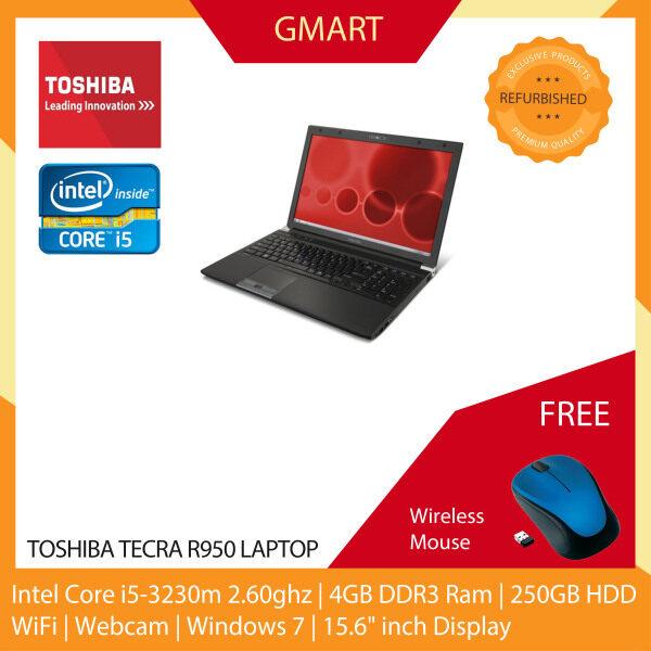 Toshiba Tecra R950 Laptop / 15.6 inch LCD / Intel Core i5-3230m / 4GB DDR3 Ram / 250GB HDD / WiFi / Windows 7 Pro / Webcam Malaysia